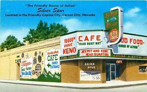 SILVER SPUR CAFE, CARSON CITY, NEVADA, VINTAGE POSTCARD