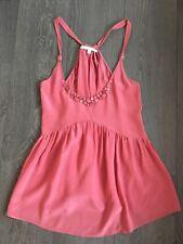 Rebecca Taylor Pink Silk Beaded Cami Tank Size 2 Aritzia Intermix