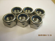 M16x1.5mm Thread (Pitch) Size Nyloc Stainless Steel Nuts 6 Pack