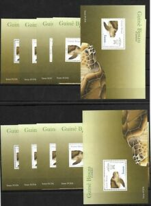 SMT, 2001, Guinea-Bissau: SEA TURTLES, souvenir sheet, lot of 10, CV € 250, MNH