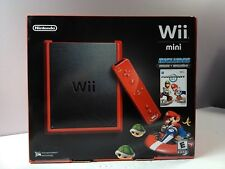 Nintendo Wii Mini Red Mario Kart Bundle Console System BRAND NEW SEALED