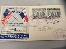 SS PANAMA Naval Cover 1939 MAIDEN VOYAGE Cachet PANAMA w/ insert