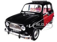 1964 RENAULT 4 PARISIENNE BLACK WITH RED 1/18 DIECAST MODEL CAR BY NOREV 185242
