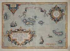 AZORES - ACORES INSULAE BY ABRAHAM ORTELIUS 1584 (but 1608)