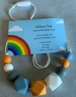 Teething Necklace Nursing Sensory Silicone Jewellery BPA Free Autumn Colours