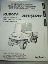Kubota rtv 900 operator's manual
