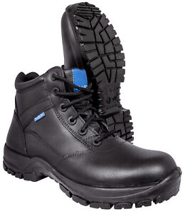 """Blueline 6"""" All Leather Patrol Boots - Police/Military/Security/Paramedic"""