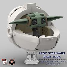 LEGO STAR WARS BABY YODA CUSTOM INSTRUCTIONS ONLY for LEGO Bricks