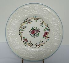 Wedgwood Argyle Pattern Patrician Edge 8½ Inch Plate with Blue Rim