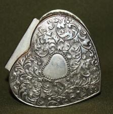 Vintage silver plated heart shape trinket box