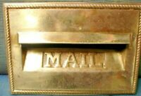 BRASS 1 kg LETTER BOX FRONT HEAVY DUTY 21 X 15 cm FOR BRICK LETTERBOX SEE PICS
