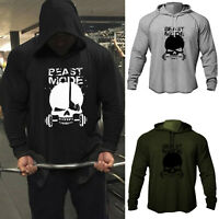 Men's GYM Fitness Beast Mood Bodybuilding Workout Raglan Hoodies Sweatshirts
