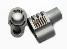 1911 FullSize Smile Wait for Flash/Flag Engraved Compensator .45acp SS SATIN