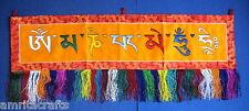 Tibetan Buddhism Om Mani Padme Hum Doorway Wall Hanging