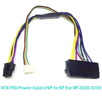 24Pin to 6Pin Plastic ATX PSU Power Supply Cable Fit HP Z230 Z220 SFF Mainbor Kc