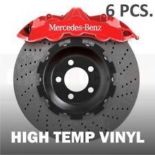 6 pcs Mercedes-Benz Premium Brake Caliper Stickers decals C-class A-class