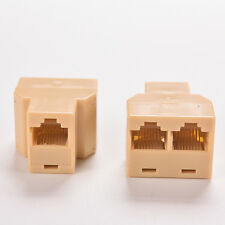 DZ517 RJ45 6 Ethernet Cable LAN Port 1 to 2 Socket Splitter Connectors Adapters