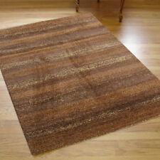 Wellness Large Thick Stripes Chocolate Brown Rug 1.6m X 2.3m 5'3 x 7'6