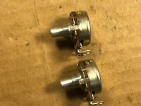 NOS Pair 1962 Stackpole 100k ohm Potentiometers Linear Taper Guitar Pots TESTED