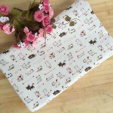 50*150cm Multicolor Linen Fabric Patchwork DIY Home deco Craft Cute Cat F211 B#
