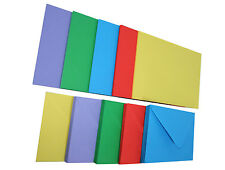 Card Blanks with Envelopes Bright Assorted C6 (Pack of 50)