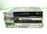 Microsoft Xbox 360 6 games lot complete with manual