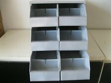 Hillman Hardware Parts Storage 6 Deep Bins Drawers Heavy Duty Cabinet
