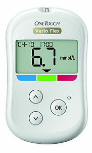 Onetouch Verio Flex Blood Glucose Meter Mmol / L Plus Test Strips - New + Ovp V