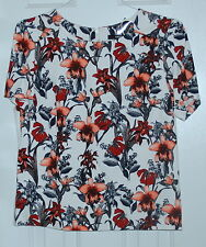 New Womens Oasis Blouse Top Floral Uk 14 Us 10 Short sleeve