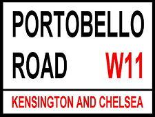 Londres calle signo-Portobello Road-Metal Aluminio Signo