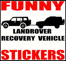 FUNNY LANDROVER RECOVERY VEHICLE DECAL STICKER FOR MITSUBISHI SHOGUN PAJERO MOD