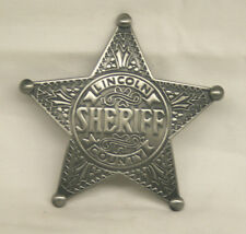 Lincoln County Sheriff <> SILVER COLOR <> Star Badge <>  <>Nice finish