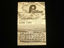 1969 Philadelphia Phillies vs. Los Angeles Dodgers Official Score Card EX+