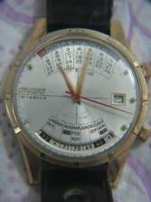 Seltene Olympia Kalender Orient mechanische Herren Gold Gefüllt Uhr