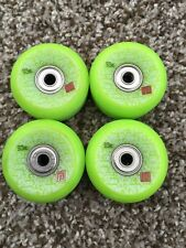 NOS POWELL PERALTA SKATEBOARD WHEELS MINI RATS NEON GREEN 57mm 93a