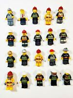 Lego Firefighter Fireman w/ Accessory Random Town City Minifigures Lot of 5