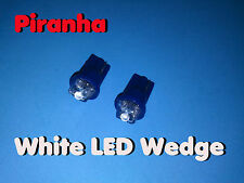 TWO LED WEDGE BASE ~  PIRANHA WHITE ~ MARKER LAMP 12V DC USA 12 VOLT  T-3 1/4