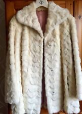 Tourmaline White/ Cream Vintage Mink Coat, Fur Jacket 10 Excellent Blonde