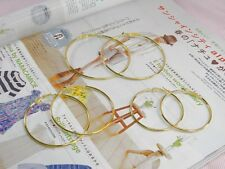 WHOLESALE LOT OF 18 GOLDEN PLATED ROUND HOOP EARRINGS