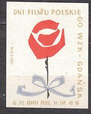 POLAND 1965 Matchbox Label - Cat.Z#580IV, Polish Film Days WZK - GDAŃSK.