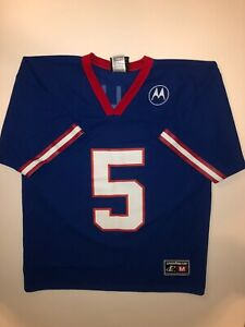 Vintage Logo Athletic New York Giants Jersey Kerry Collins #5 Men's M Blue NFL