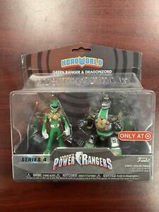 New Hero World Power Rangers Green Ranger Dragonzord Mini Figure Set Funko