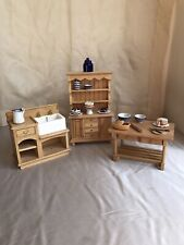 Dolls House Country Kitchen Dresser, Table, Sink & Accessories Great Collection