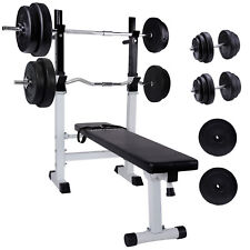 Multifunktion Hantelbank set mit 110kg Hantelset Trainingsbank Kraftstation