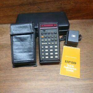 HP-80 VERSION 1 RARE BUSINESS HP CALCULATOR SET WORKS PERFECTLY