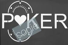 Pochoir poker 27,5cm sur 17 cm . plastique réutilisable.