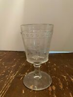 Antique EAPG Early American Pattern Glass Egyptian Pattern Goblet