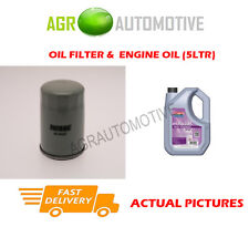 PETROL OIL FILTER + FS 5W30 ENGINE OIL FOR CHEVROLET LACETTI 1.4 95BHP 2005-13