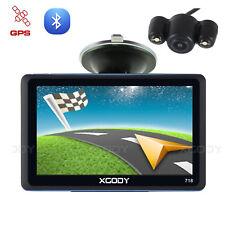 "XGODY 718 7"" Car GPS Navigation Bluetooth Free Map Reverse Backup Parking Camera"