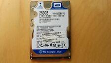 "Western Digital 250GB 2.5"" SATA 5400RPM Laptop Hard Drive WD2500BEVS Tested Ok"